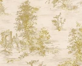 Behang natuur creme goud AS Romantica 30429-3