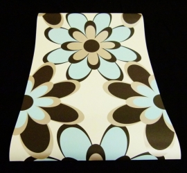 retro modern bloemen trendy behang dd19