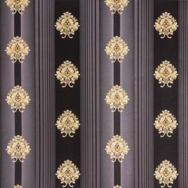 Hermitage behang ornamenten Metallic 33084-6