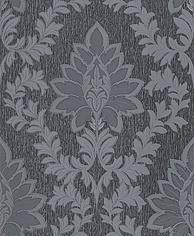 313932 barok grijs glitter vinyl behang