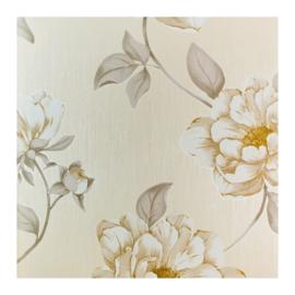 Bloemen glitter behang j07407