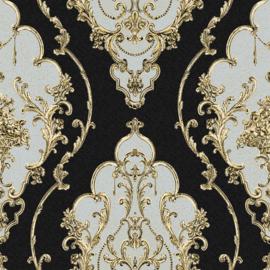 Barok behang klassiek zwart goud xxxx26