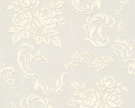 Glitter Bloemen behang 33867-1