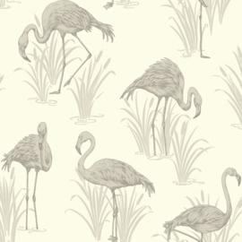 Lagune Flamingo behang Arthouse 252604