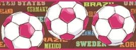 Eijffinger Hits for Kids 307096 behangrand met voetbal