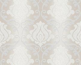barok behang grıjs zılver glitter  34860-2