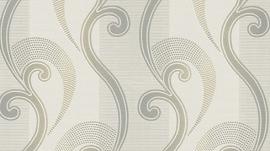 barok behang Erismann Serail zilver taupe beige 6804-37