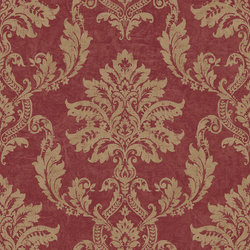 BAROK BEHANG PERSIAN DAMASK ROOD GOUD XXX57