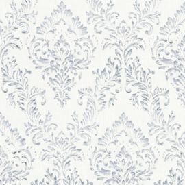 zilver wit barok textiel behang glitter 30659-3