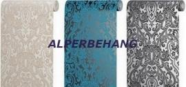 barok vlies behang creme beige of blauw 406