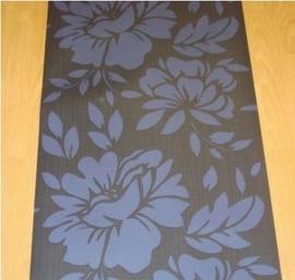 modern bloemen behang bruin paars 76