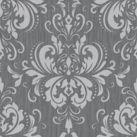 Grijs barok behang 785-04