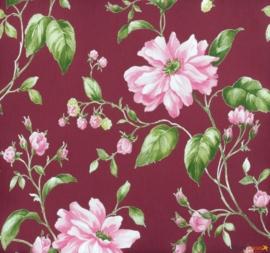 Astoria Marburg groen roze bloemen vlies 53741 behang