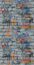 Noordwand Les Aventures 51135209 Graffiti tieners  steenstrips behang