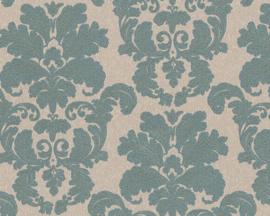 Barok behang groen 95937-4