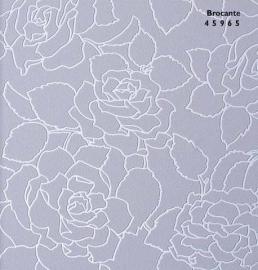 bloemen lila behang parelmoer met  relief 45965