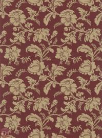 bloemen rood goud behang Trianon XI rasch 515107