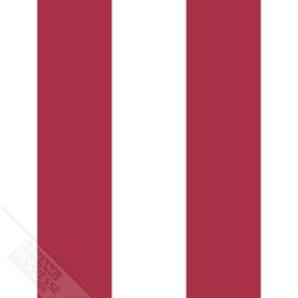 Strepen behang rood wit 27160