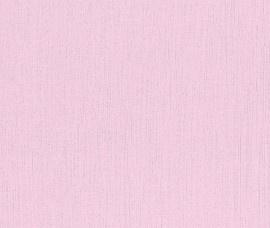 Rasch Kids Club 232714 effen behang roze