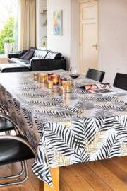 zwart bladeren tafelzeil 150-127