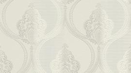 barok behang Erismann Serail wit grijs zilver 6803-01