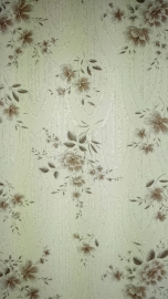 glitter behang bloemen Arabica bruin goud wit