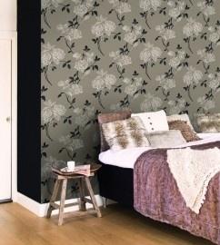 BN Wallcoverings Glamorous 46763 bruin/taupe, zwart vlies