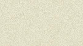 5784-14 bloemetjes klassiek vlies behang creme 3D effect