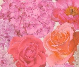 bloemen rozen vinyl 3d behang 855814