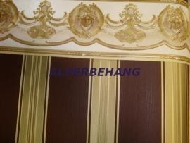 klassiek behang bruin goud 311