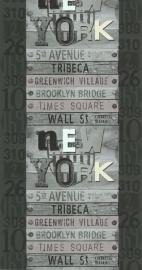 Noordwand Les Aventures 51138309 New York Wall Street cijfers behang