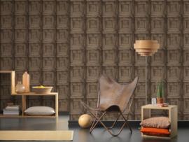 Hout behang bruin paneel 30750-3