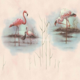 flamingo 679116 as creation faro III vinyl vogel behang tapete 40