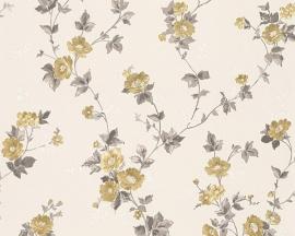 Behang Bloemen wit grijs AS Romantica 30428-3