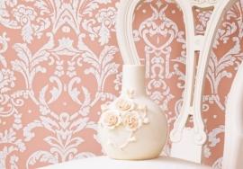 klassiek vintage behang barok satijn Ornamentals 48657