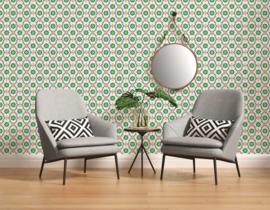 Retro behang groen seventies 36297-3
