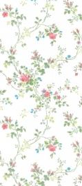 dollhouse 68827 rood blauw beige bloemen stijlvol behang