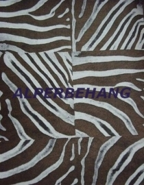 bruin bronz afrika look zebraprint patchwork vlies behang voelt als een vacht 200