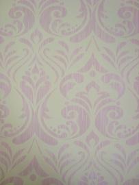 barok vlies behang roze wit 165
