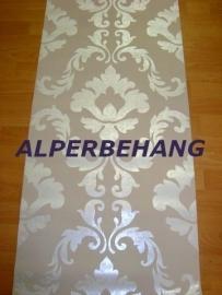 barok behang wit zilver parelmoer 282