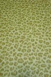 luipaardprint lime groen dieren print behang 68