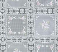 kant tafelzeil tafelkleed wit met rose bloemetjes  ptx11