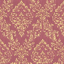 Rood goud barok textiel behang glitter 30659-6