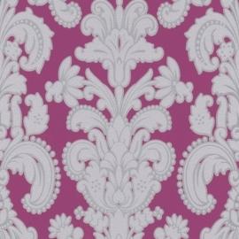barok behang roze grijs zilver 256