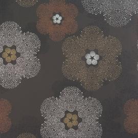BN Wallcoverings Impulse behang 48345 bruin zwart grijs bloemen behang