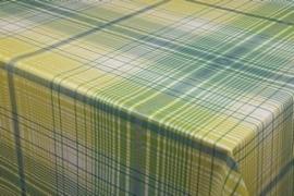 150-150 groen geel ruiten tafelzeil