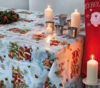 tafelzeil kerstzeil kerstman Merry Christmas