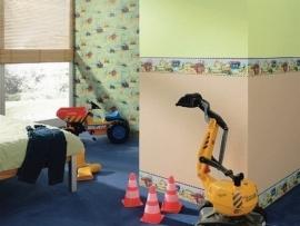 bouwvakkers bouwwerkers bouwwerkmachines kinder behangrand 115