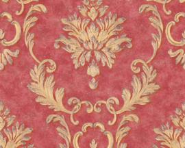 Rood goud barok behang 32422-6