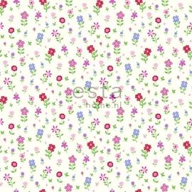 Esta Giggle 137319 roze rood groen blauw bloemen behang